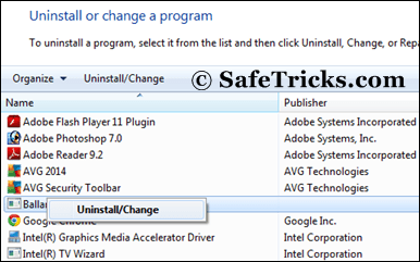 Uninstall Unwanted Programs windows
