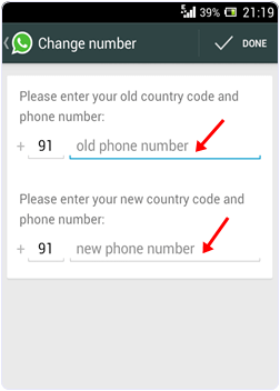 Change Whatsapp Number With Deleting Account
