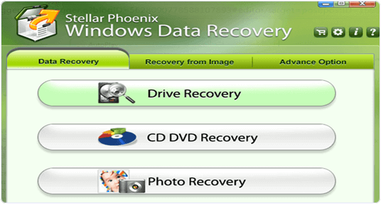 stellar phoenix data recovery interface