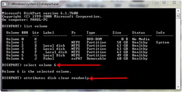 Windows system diskpart disk clear
