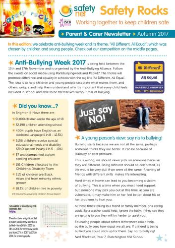 Safety Rocks primary edition newsletters out now! - Safety Net