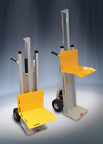 Hand truck with powered lift  20130826  Safety and