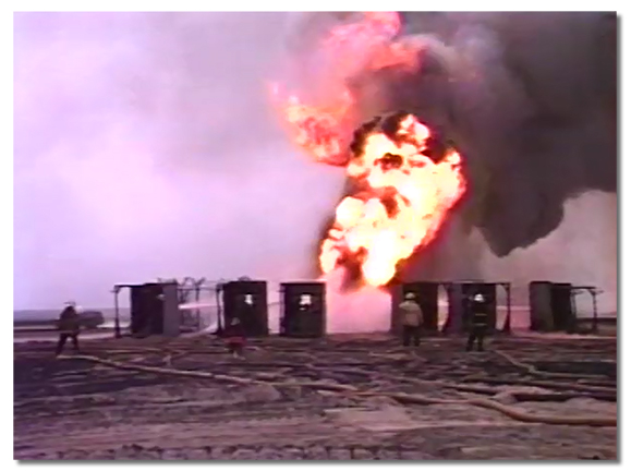 bunkers assaulting flame