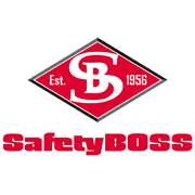 Safety Boss Logo Diamond SafetyBOSS Red and Black