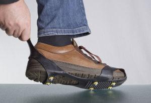 Schuhspikes anlegen