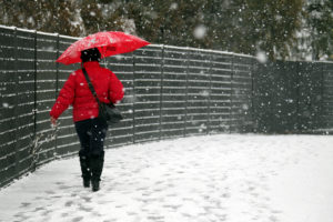 camminare tra la neve