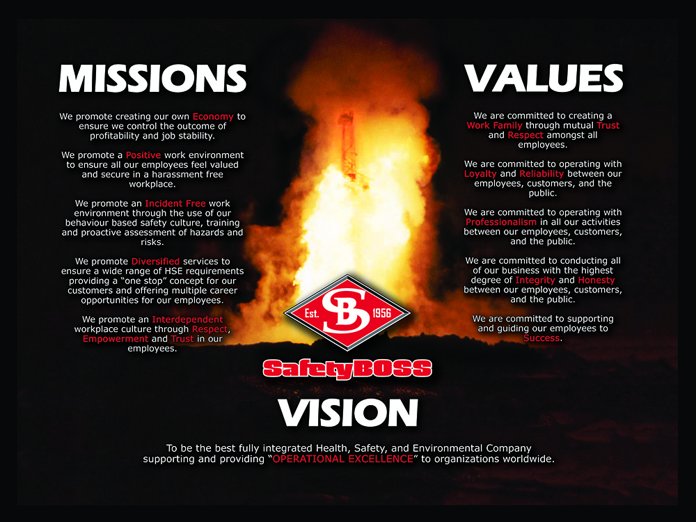 vision missions and values safety boss