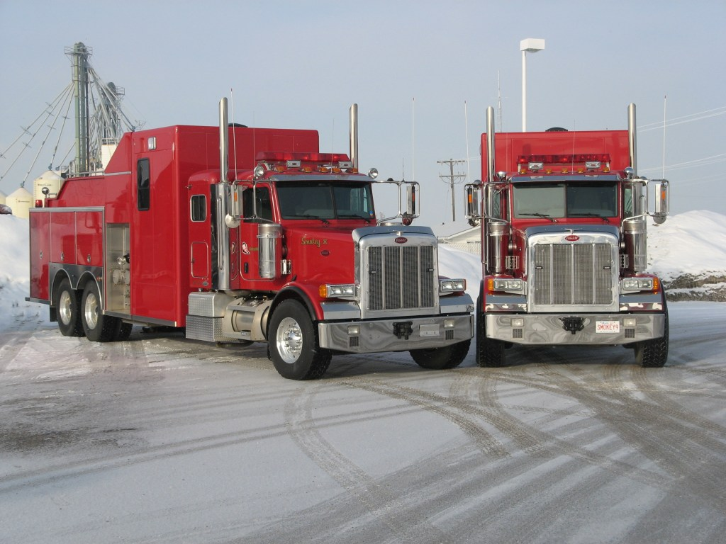 Smokey fire trucks for our industrial fire protection services
