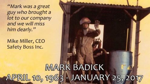 One Year Later - Remembering Mark Badick