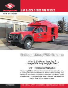 Badick Ultra High Pressure Fire Truck Brochure