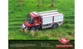 Unimo fire truck traveling off road