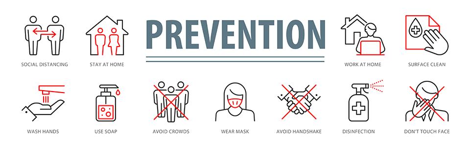 Coronavirus Myth Prevention tips