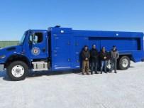 Custom built UHP fire truck for Louis Bull Tribe