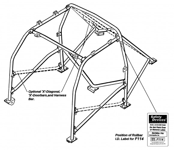 Ford Focus MK1 Hatchback Multi Point Bolt-in Roll Cage