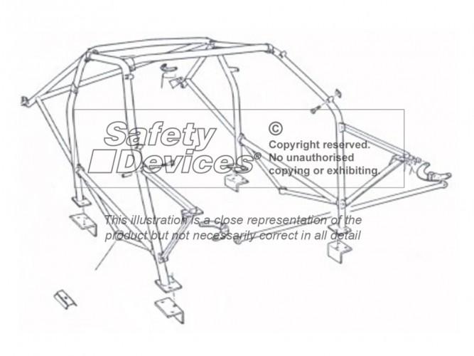 Lancia Delta HF Integrale 4x4 Group N Multi Point Bolt-in