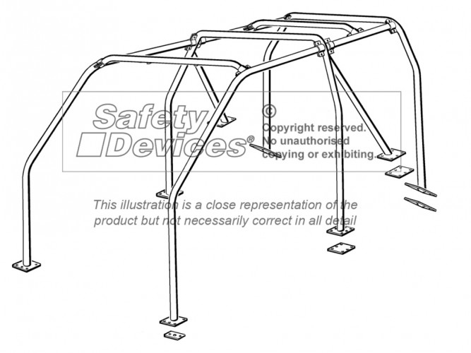 Land Rover Discovery 1 Multi Point Bolt-in Roll Cage