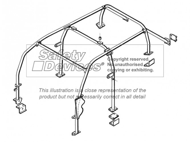 Land Rover Freelander 1 Multi Point Bolt-in Roll Cage