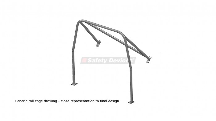 Austin Healey 3000 4 Seater 4 Point Bolt-in Roll Cage