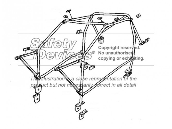 Vauxhall Opel Nova Hatchback Multi Point Bolt-in Roll Cage