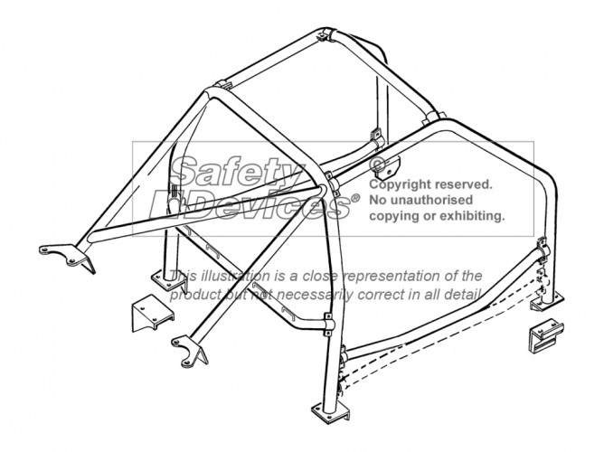 Porsche 996 SCCA Spec For USA 6 Point Bolt-in Roll Cage
