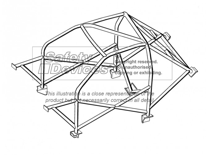 Subaru Impreza GC8 WRX Turbo STI Weld In Roll Cage