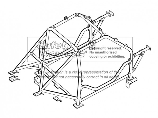 Renault Megane Coupe Multi Point Bolt-in Roll Cage