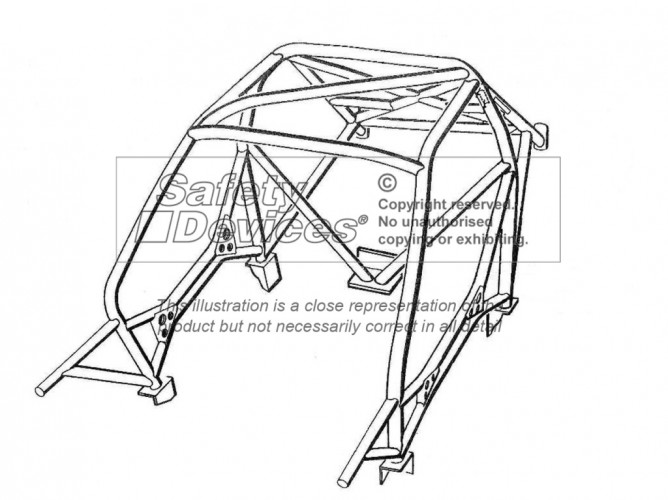 Citroen Saxo Weld In Roll Cage | Safety Devices
