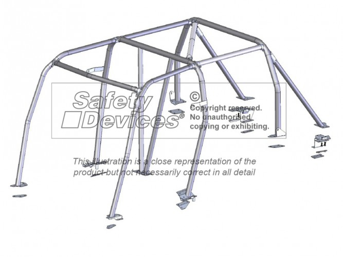 Land Rover Discovery 3 Multi Point Bolt-in Roll Cage