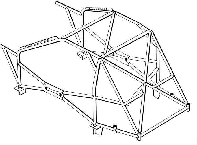 Peugeot 206 Weld In Roll Cage | Safety Devices