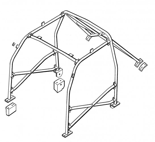 BMW 3 Series E36 Coupe Multi Point Bolt-in Roll Cage