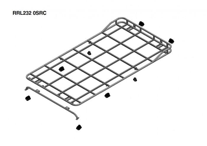 Land Rover Defender 110 Hard Top Roof Rack Roll Cage Mount