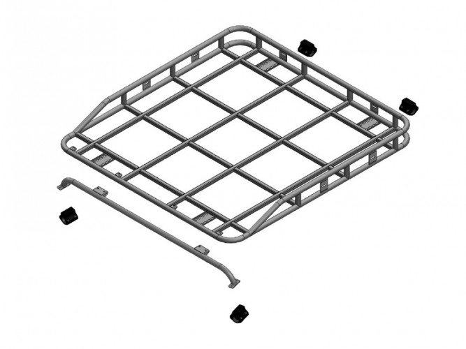 Toyota Land Cruiser HZJ 79 Double Cab Pick-Up Roof Rack