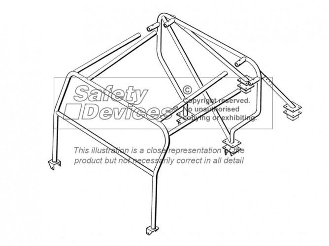 Land Rover Series 3 Truck Cab/Pick-Up Weld In Roll Cage