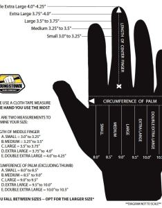 Youngstown gloves size chart also ropework xt safety glasses usa rh safetyglassesusa