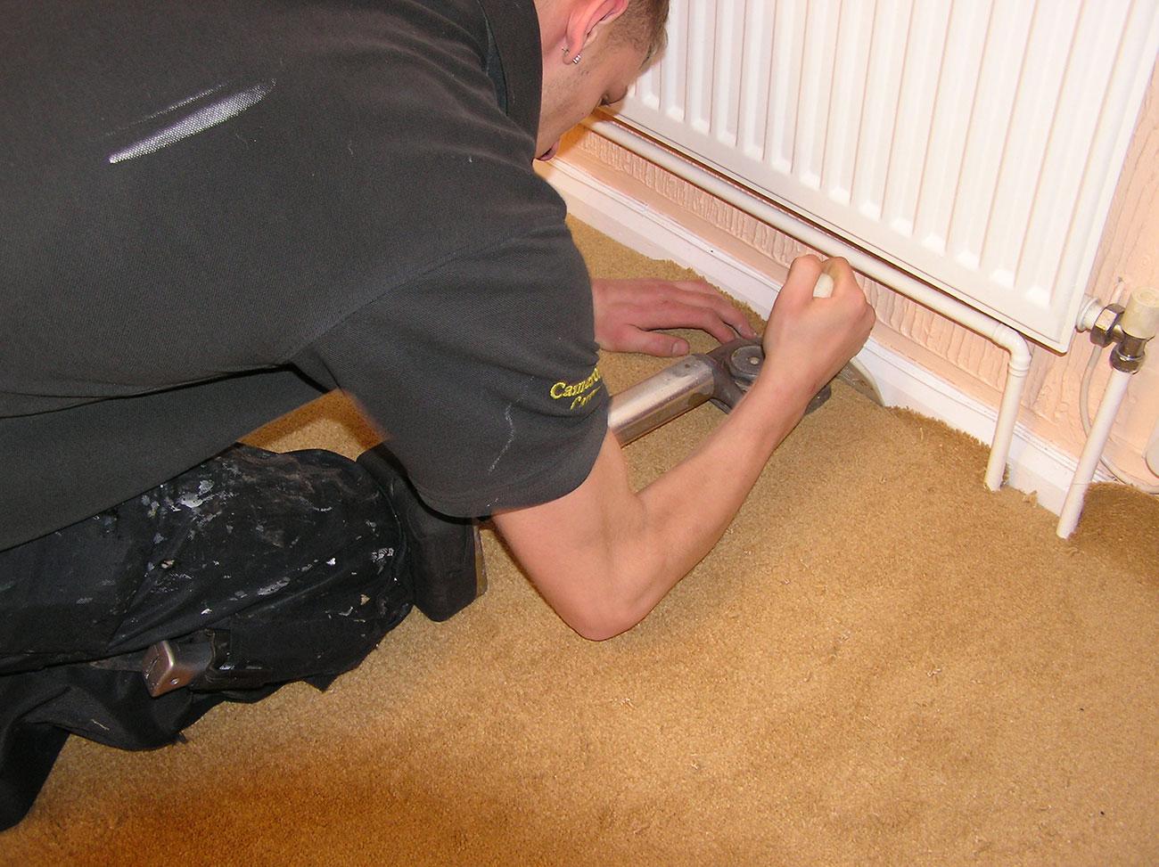 laying carpet safety