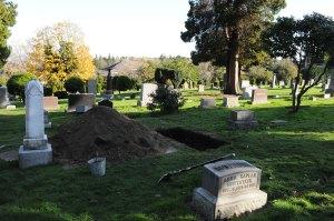 cemetery work