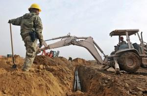 excavation trenching