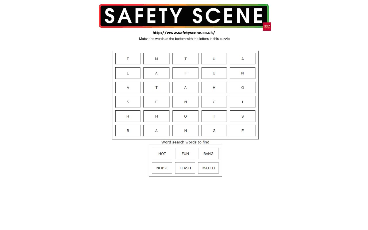 Safety Scene Key Stage 1 Amp 2 Safety Town Word Search