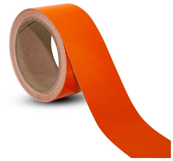 Orange Reflective Floor Marking Tape by SafetySigncom