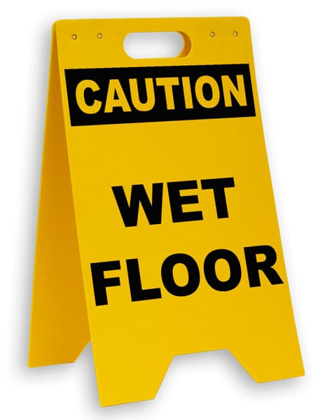Caution Wet Floor Floor Sign P5345  by SafetySigncom