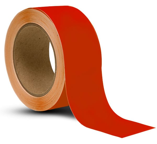 Red Vinyl Floor Marking Tape REDTAPE  by SafetySigncom