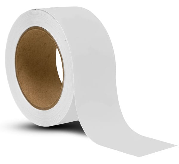 White Vinyl Floor Marking Tape WHTAPE  by SafetySigncom