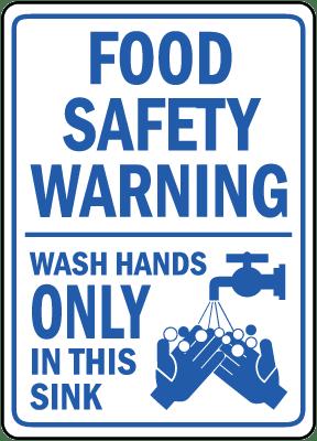 restaurant hand washing signs in