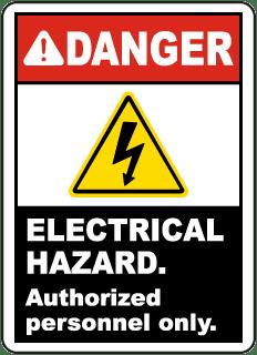 electrical panel hazards nissan primera p12 abs wiring diagram hazard signs osha ansi compliant danger label