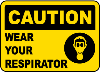respirator signs for sale