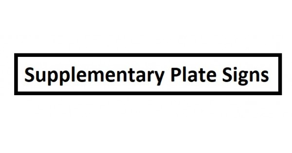Chapter 8 Supplementary Plate Signs