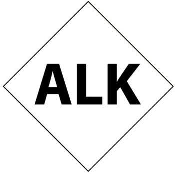 NFPA Chemical Hazard ALK Symbol