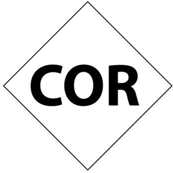 NFPA Chemical Hazard COR Symbol