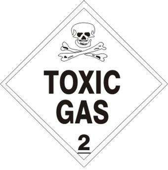TOXIC GAS, CLASS 2, PLACARD
