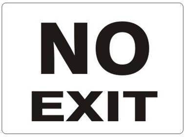 NO EXIT Sign I Safety Supply Warehouse